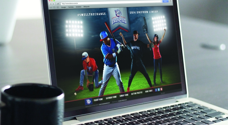Iron Pigs Smell the Change Landing Page on Laptop
