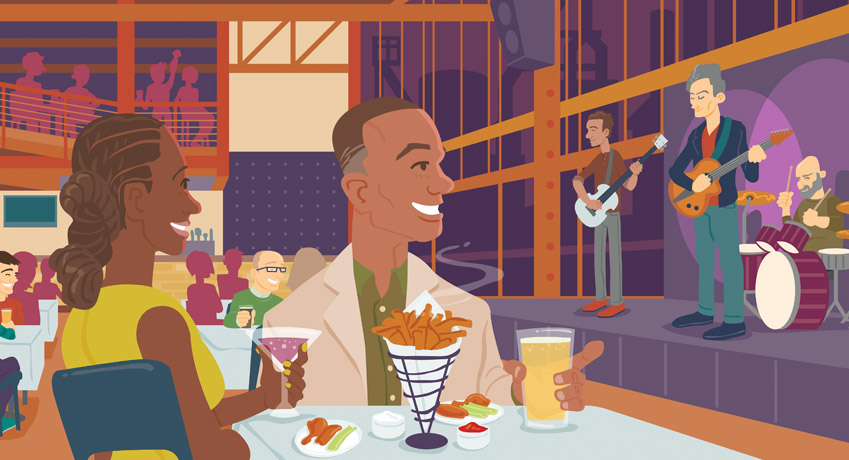 Dinner and a Show Artwork for Artsquest