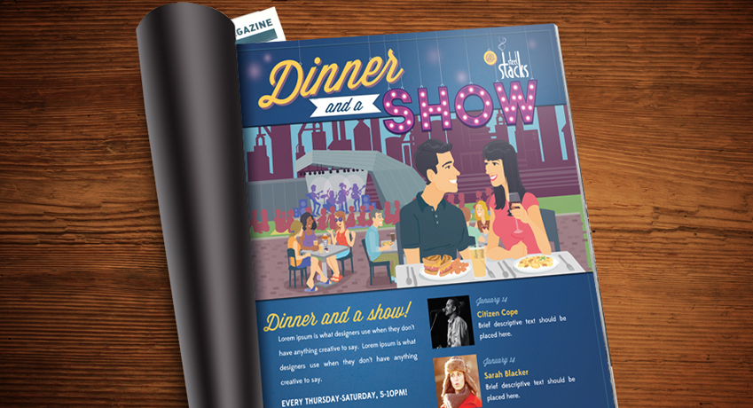 Dinner and a Show Advertisement