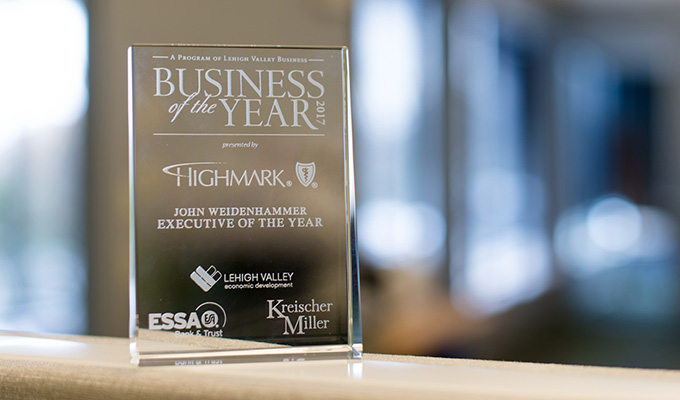 John Weidenhammer Named Executive of the Year by Lehigh Valley Business