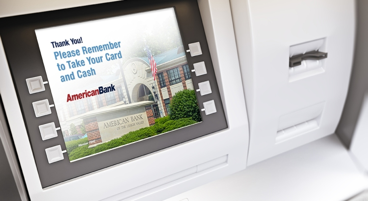 AMBK Advertisement on ATM Machine