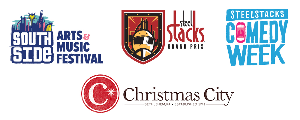 Artsquest Logos - Southside, Steel Stacks, Comedy Week, Christmas City