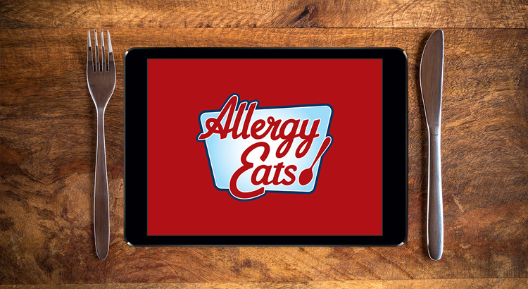 Allergy Eats logo on Ipad