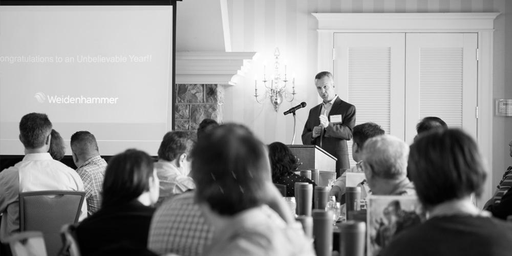 Chuck Zwicker presenting