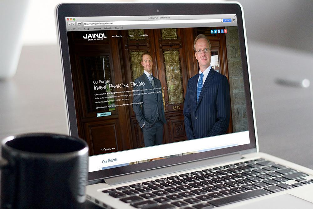 Jaindl Enterprises on Laptop