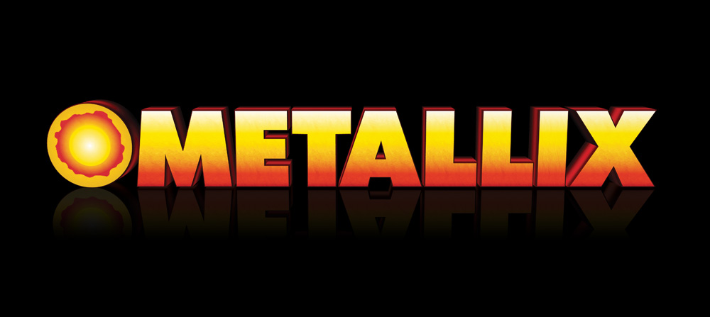 Metallix logo on black background