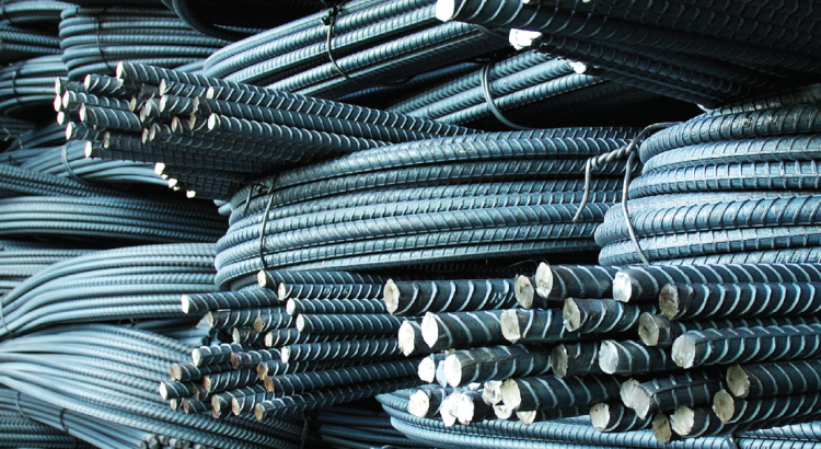 Photo of rebar stored coiled in a warehouse