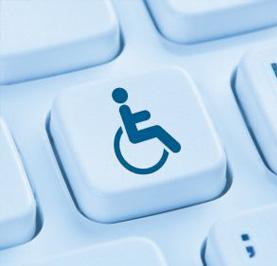 Wheelchair on computer button