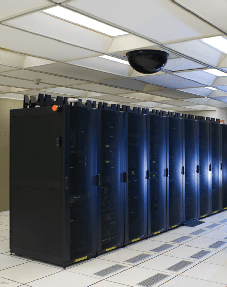 Network Computer Cabinets in Data Center