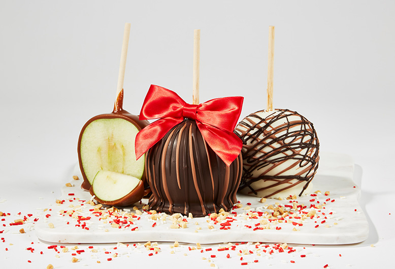 Three Candy apples