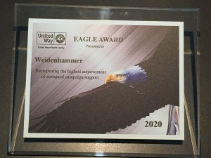 Weidenhammer Receives Prestigious Eagle Award