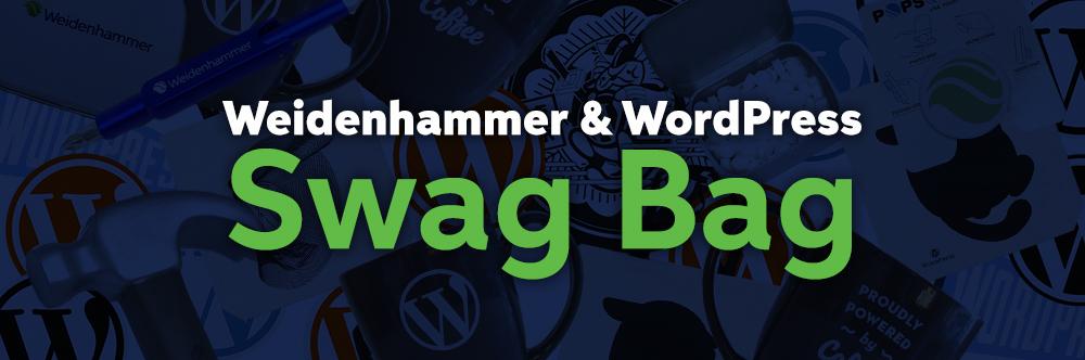 Weidenhammer & WordPress Swag Bag